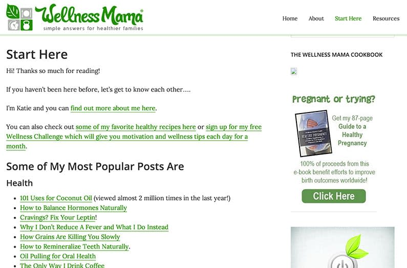 WellnessMama Start Here Page | crystalpulse.co.uk