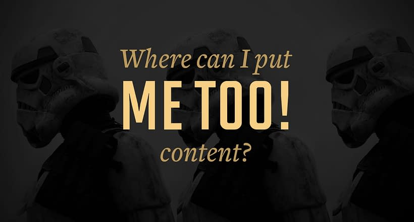 Where Can I Put Me Too Content?   crystalpulse.co.uk
